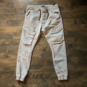 Zara men's army green cargo jogging pants